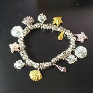 🔥5/$15 sikver and gold seashore bracelet